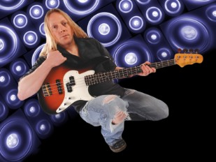 Jamie Mallender With Fret-King Perception (Pic Gary Barlow, Photoshopping By Adrian Bece.)